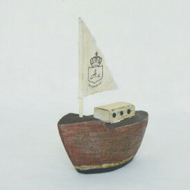 azi-azi/木の船(レッド)/RC-128【01】【取寄】[2個] 雑貨 生活雑貨 木製雑貨