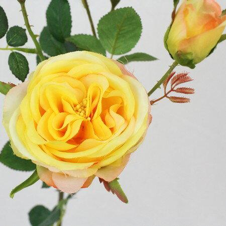 即日★【造花】FIAN/ローズスプレーパスティル/FR0020-YEL|造花 バラ【00】《 造花(アーティフィシャルフラワー) 造花 花材「は行」 バラ 》
