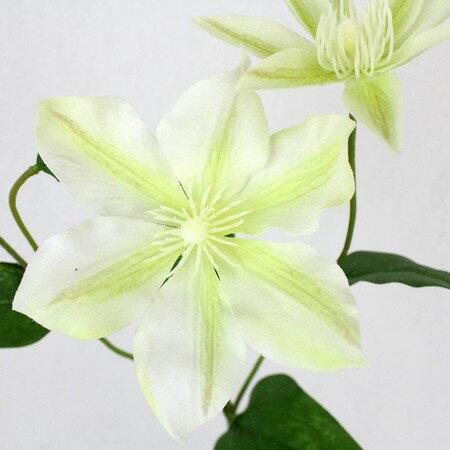 即日 【造花】《生花転写》FIAN/ナチュラルクレマチススプレー/FS0017-W/G《 造花(アーティフィシャルフラワー) 造花 花材「か行」 クレマチス 》