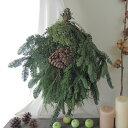 【生花】そのまま飾れる♪オレゴン産エバーグリーンスワッグ[1個]※届日限定:11/21以降