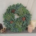 【生花】そのまま飾れる♪オレゴン産ミックスリース(L)45cm(単品)[1個]※届日限定:11/26以降