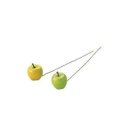 即日★りんごピック 20mm グリーン MC10601−X36/165-4830-5《 花資材・道具 フラワーピック フルーツピック 》