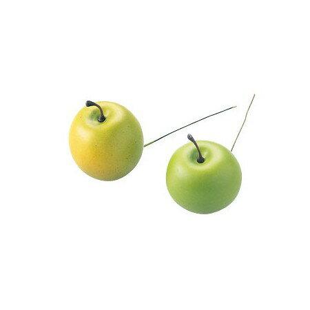 りんごピック 45mm グリーン MC10599−X24/165-4832-5【01】【01】【取寄】《 花資材・道具 フラワーピック フルーツピック 》