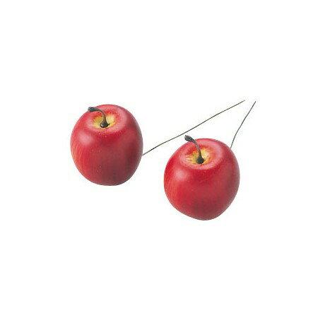 りんごピック 45mm レッド MC10617−X24/165-4832-8【01】【01】【取寄】《 花資材・道具 フラワーピック フルーツピック 》