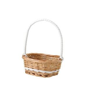 即日 てづくり/マロンプチバスケットオーバルWH/SS/11-095花器、リース 花器・花瓶 バスケット(花かご) 手作り 材料