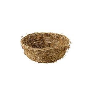 てづくり/籐フリーバスケット丸小/13-387【01】【取寄】花器、リース 花器・花瓶 バスケット(花かご) 手作り 材料