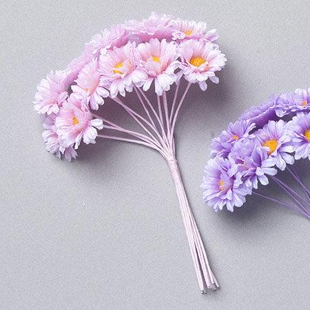 【造花】ミレニアムアート/プチアスター ライトピンク 12個/AFC18-24【01】【01】【取寄】《 造花(アーティフィシャルフラワー) 造花 花材「あ行」 アスター 》