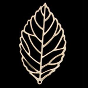 ミレニアムアート/アレンジパーツ シルバーリーフ大 ゴールド 5個/AEP101-22【01】【取寄】花資材・道具 ブローチ・コサージュピン、金具 手作り 材料