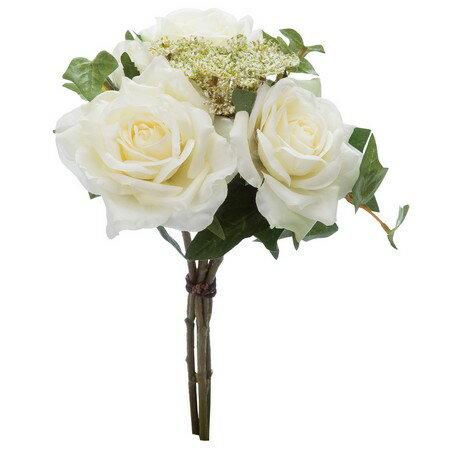 【造花】YDM/ローズディルブーケ ホワイト/FB2341-W|造花 バラ【01】【01】【取寄】《 造花(アーティフィシャルフラワー) 造花 花材「は行」 バラ 》