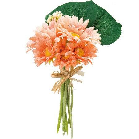 即日★【造花】YDM/ガーベラブーケM オレンジ/FBC8025-OR【00】《 造花(アーティフィシャルフラワー) 造花 花材「か行」 ガーベラ 》