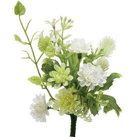 即日 【造花】YDM/ミニフラワーブッシュ グリーンホワイト/FB2324-G/W《 造花(アーティフィシャルフラワー) 造花ギフト 仏花 》