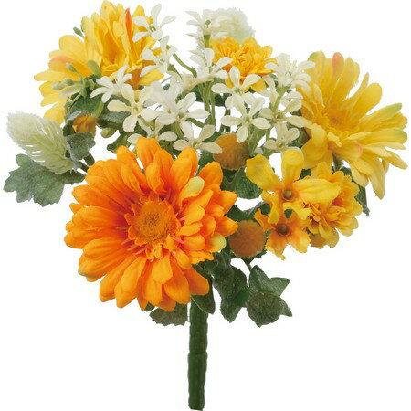 即日 【造花】YDM/ガーベラミックスブッシュ イエローオレンジ/FB2327-YOR《 造花(アーティフィシャルフラワー) 造花 花材「か行」 ガーベラ 》