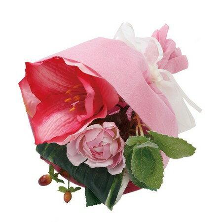 【造花】YDM/アマリリスミックスブーケ ピンクビューティー/FBC8029-PBT【01】【取寄】《 造花(アーティフィシャルフラワー) 造花 花材「あ行」 アマリリス 》