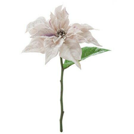 大特価◎【造花】YDM/ホアフロストポインセチアショート/FS6834-LAV【01】【取寄】《 造花(アーティフィシャルフラワー) 造花 花材「は行」 ポインセチア 》