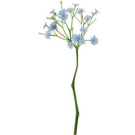 即日 【造花】YDM/ミニクラスターデイジーピック ブルー/FB2411-BLU《 造花(アーティフィシャルフラワー) 造花 花材「た行」 デージー 》