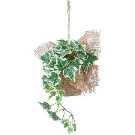 【造花】YDM/バーラップアイビーハンガー ツートングリーン/GLA1256-TGR【01】【取寄】《 造花(アーティフィシャルフラワー) 造花葉物、フェイクグリーン アイビー 》