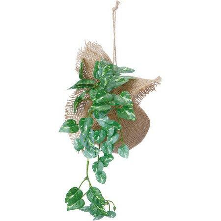 【造花】YDM/バーラップポトスハンガー グリーン/GLA1257-GR【01】【取寄】《 造花(人工観葉植物) 人工観葉植物「は行」 ポトス 》