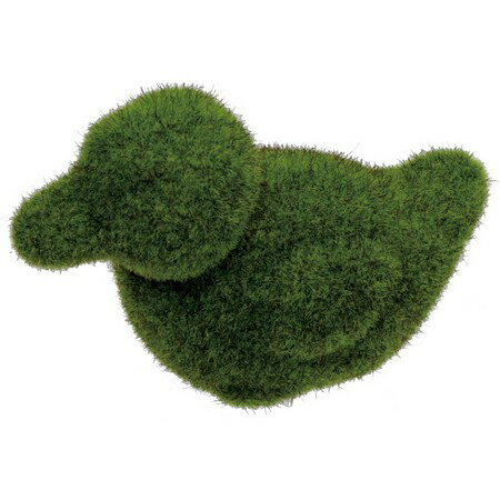 【造花】YDM/モスアニマルダックL グリーン/GLA1280-GR【01】【取寄】《 ガーデニング用品 雑貨・置物・オーナメント 置物・オーナメント 》