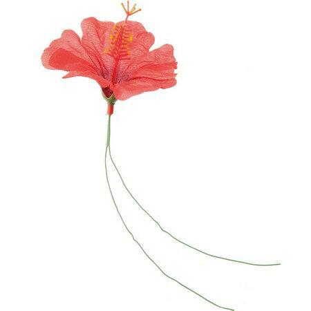 【造花】YDM/ハイビスカスワイヤー/FS8213-R【01】【01】【取寄】《 造花(アーティフィシャルフラワー) 造花 花材「は行」 ハイビスカス 》