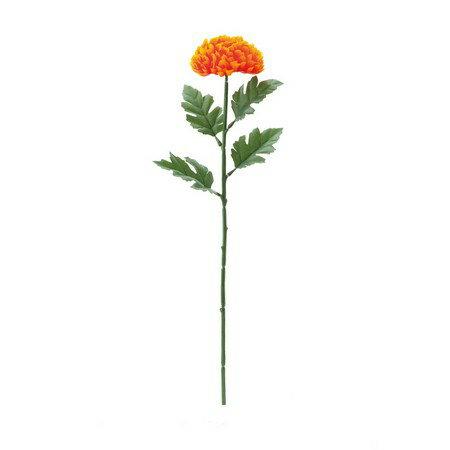 【造花】YDM/シングルボールマム オレンジ/FF2826-OR【01】【取寄】《 造花(アーティフィシャルフラワー) 造花 花材「か行」 キク(菊)・ピンポンマム 》