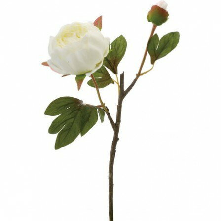 【造花】YDM/ボタンX2 ホワイト/FA6672-W【01】|芍薬・牡丹【01】【01】【取寄】《 造花(アーティフィシャルフラワー) 造花 花材「さ行」 シャクヤク(芍薬)・ボタン(牡丹)・ピオニー 》