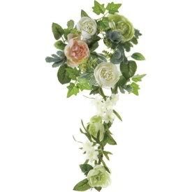 即日 【造花】YDM/ラナンキュラスリース グリーンホワイト/FBC8007-G/W《 造花(アーティフィシャルフラワー) 造花 花材「ら行」 ラナンキュラス 》