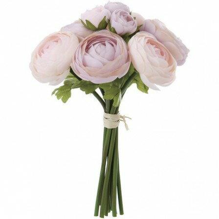 即日 【造花】YDM/ラナンキュラスブーケ ピンクラベンダー/FB2302-P/L《 造花(アーティフィシャルフラワー) 造花 花材「ら行」 ラナンキュラス 》
