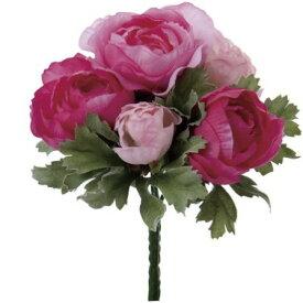 即日 【造花】YDM/ラナンキュラスブッシュ ピンクビューティー/FB2307-PBT《 造花(アーティフィシャルフラワー) 造花 花材「ら行」 ラナンキュラス 》
