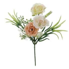 即日 【造花】YDM/ミニローズピック サーモン/FB2311-SA《 造花(アーティフィシャルフラワー) 造花 花材「は行」 バラ 》