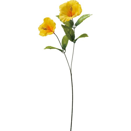 大特価◎【造花】YDM/ハイビスカスX2 イエロー/FS8178-Y【01】【取寄】《 造花(アーティフィシャルフラワー) 造花 花材「は行」 ハイビスカス 》