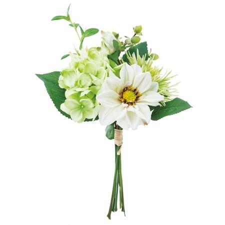 【造花】YDM/ボタニカルハイドレンジアバンチ ホワイトグリーン/FB2369-W/G【01】【取寄】《 造花(アーティフィシャルフラワー) 造花 花材「あ行」 アサガオ(朝顔) 》