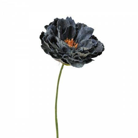 【造花】アスカ/A-39611 デニムピオニーピック ブラック/72-39611-100【01】|芍薬・牡丹【00】【00】【取寄】《 造花(アーティフィシャルフラワー) 造花 花材「さ行」 シャクヤク(芍薬)・ボタン(牡丹)・ピオニー 》