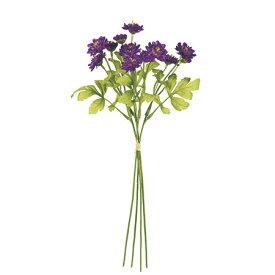 【造花】MAGIQ(東京堂)/フリンジデージーバンドル #17 PURPLE 4本/FM002433-017【01】【取寄】《 造花(アーティフィシャルフラワー) 造花 花材「た行」 デージー 》