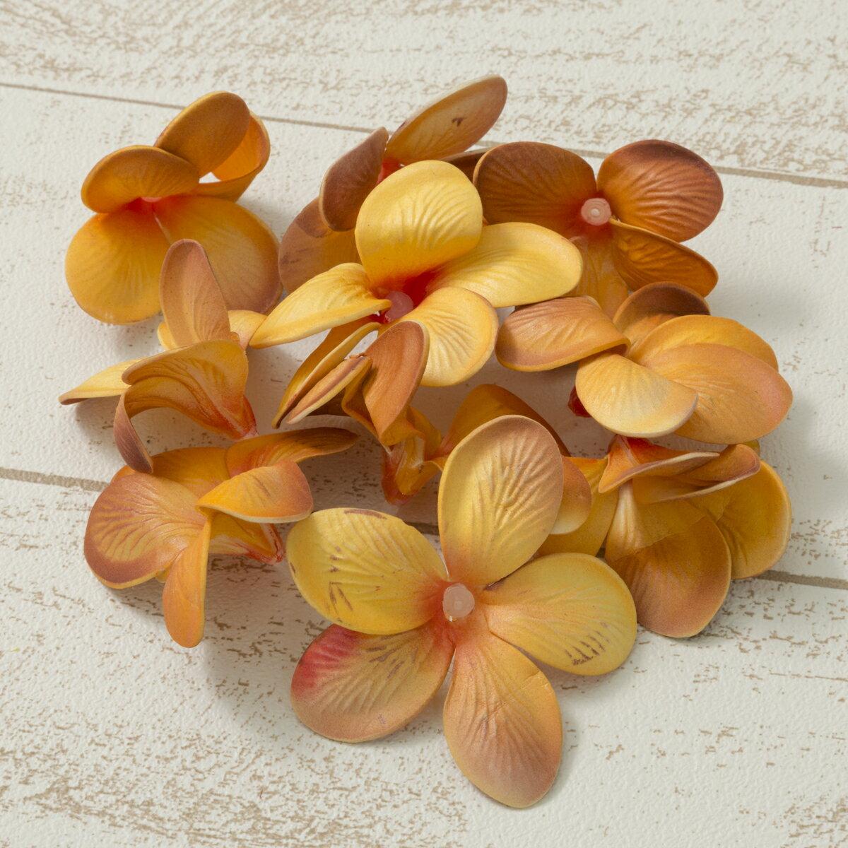 大特価◎【造花】YDM/プルメリア オレンジ 10個/FLP1140-OR【01】【01】【取寄】《 造花(アーティフィシャルフラワー) 造花 花材「は行」 プルメリア 》
