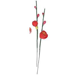 【造花】MAGIQ(東京堂)/特上枝付梅 #3 レッド 30本/VS000007-003【01】【取寄】《 造花(アーティフィシャルフラワー) 造花 花材「あ行」 ウメ(梅) 》