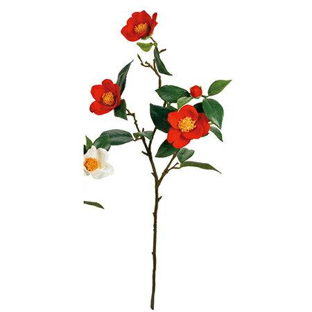 【造花】MAGIQ(東京堂)/やぶ椿3輪咲き #3 RED /FJ000881-003【01】【01】【取寄】《 造花(アーティフィシャルフラワー) 造花 花材「た行」 ツバキ(椿) 》