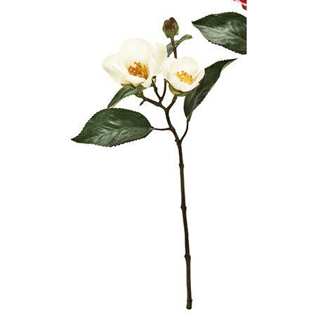 【造花】MAGIQ(東京堂)/祝い椿ピック #1 WHITE /FJ003634-001【01】【取寄】《 造花(アーティフィシャルフラワー) 造花 花材「た行」 ツバキ(椿) 》