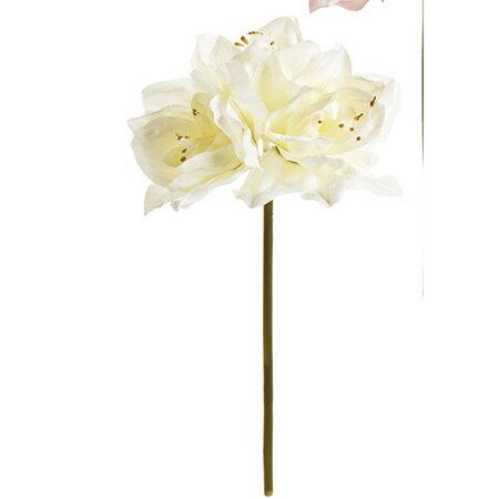 【造花】MAGIQ(東京堂)/カレンアマリリス #1  CR/WH /FM000798-001《 造花(アーティフィシャルフラワー) 造花 花材「あ行」 アマリリス 》