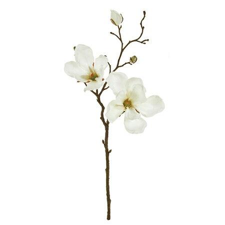即日 【造花】MAGIQ(東京堂)/マグノリアミディ #1 CREAM /FM003336-001《 造花(アーティフィシャルフラワー) 造花 花材「ま行」 モクレン(木蓮)・マグノリア 》