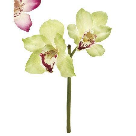 即日 【造花】MAGIQ(東京堂)/マリアシンビジウム ライムグリーン/FM003507-023《 造花(アーティフィシャルフラワー) 造花 花材「さ行」 シンビジューム 》