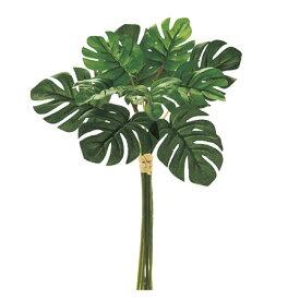 即日 【造花】MAGIQ(東京堂)/ミニモンステラピック GREEN/FG002080《 造花(アーティフィシャルフラワー) 造花葉物、フェイクグリーン モンステラ 》