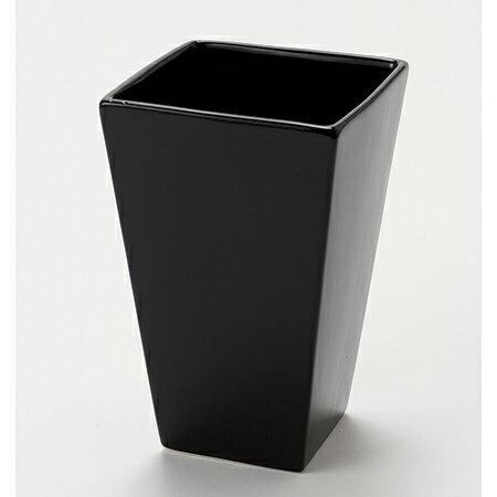 東京堂/ネオスクエアM シャイニーブラック/CX000473-020【01】【取寄】《 花器、リース 花器・花瓶 陶器花器 》