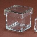 ガラスの宝石箱L/GL001408【02】《 花 資材花器、ベースガラス花器、花瓶縦横同等 》