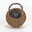 即日 てづくり/黒柳ウォールポケットS/11-452《 花器、リース 花器・花瓶 バスケット(花かご) 》