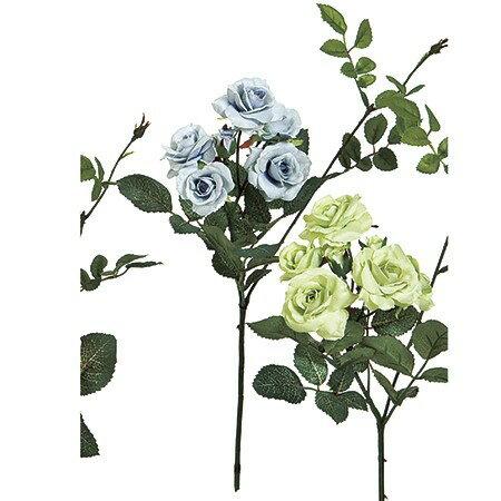 即日★【造花】MAGIQ(東京堂)/ルナパレットローズ ライトブルー/FM000121-105|造花 バラ【00】《 造花(アーティフィシャルフラワー) 造花 花材「は行」 バラ 》
