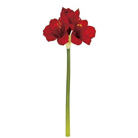 即日★【造花】MAGIQ(東京堂)/セルフィアマリリス #3  RED/FM110238-003《 造花(アーティフィシャルフラワー) 造花 花材「あ行」 アマリリス 》