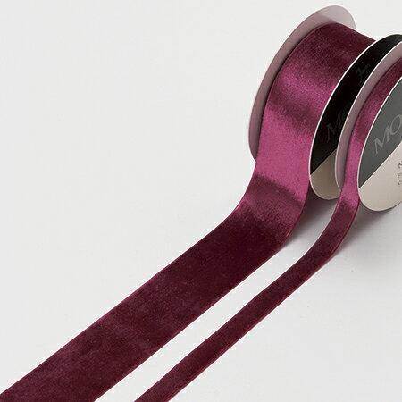 MOKUBA/ベルベットリボン38mm #3 ブラック 5m/RM260038-003【01】【取寄】《 リボン シーズナルリボン クリスマスリボン 》