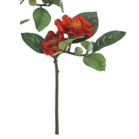【造花】MAGIQ(東京堂)/和香椿ピック #3 RED /FJ001190-003【01】【01】【取寄】《 造花(アーティフィシャルフラワー) 造花 花材「た行」 ツバキ(椿) 》