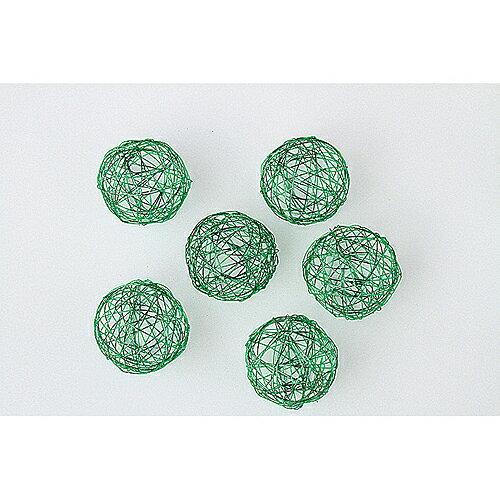 東北花材/ワイヤーボール6 緑 6個/73780【01】【01】【取寄】《 花資材・道具 ボール、パール 》