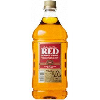 Red Suntory whisky 39 ° 1920 ml capacity plastic bottles